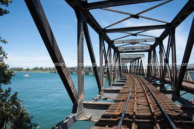 Tauranga Harbour rail crossing.