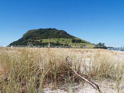 Mount Maunganui from Matakana island.