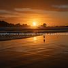 Golden sunrise over beach