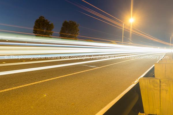 Tauranga Takitimu Expressway in dark of night