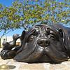 Bronze Hairy McClary characters on Tauranga waterfront