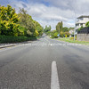 Deserted city street in midst ov covid-19 virus pandemic lock-down.