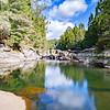 Calm pond at McLaren Falls Park