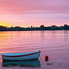 Stunning sunrise over calm bay