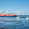"Container ship leaves the Port of Tauranga wharf heading for sea. See;  <a href=""http://www.blurb.com/b/3811392-tauranga"">http://www.blurb.com/b/3811392-tauranga</a> mount maunganui landscape photography, Tauranga Photos; Tauranga photos, Photos of Tauranga Also see; <a href=""http://www.brianscantlebury.com/Events"">http://www.brianscantlebury.com/Events</a>"