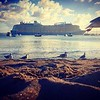 Ovation of Seas leaving