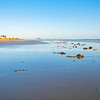 Idyllic morning beach scene