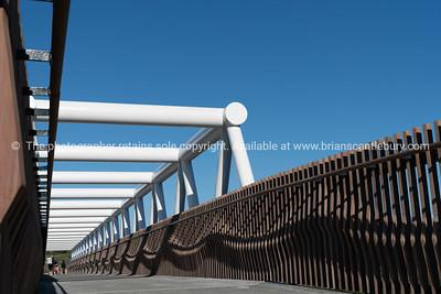 White steel Takatimu Drive Overbridge