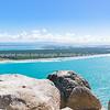 View from Mount Maunganui along scenic Matakana Island