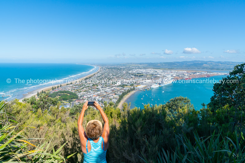 Beaches, sea harbor and city of Mount Maunganui