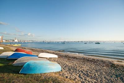 Dinghies on Pilot Bay, Tauranga.