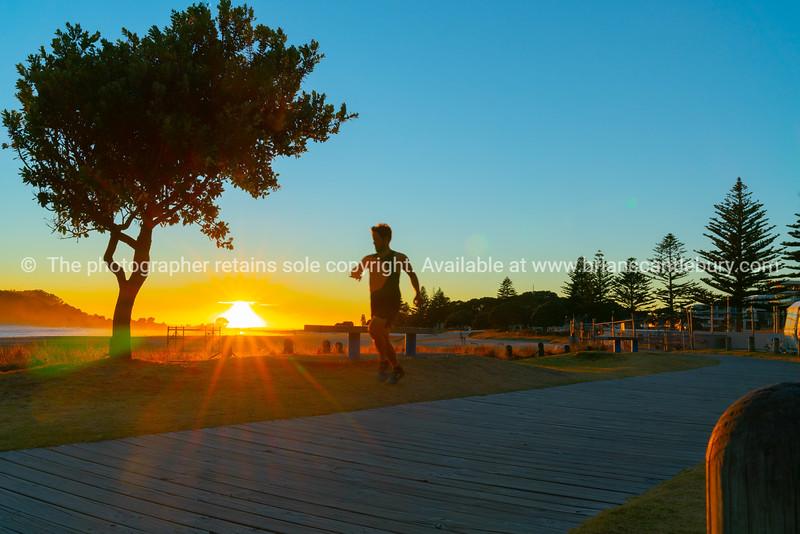 Intense sunrise at Mount Maunganui