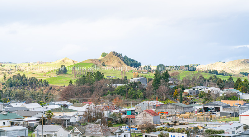 Te Kuiti on the main trunk line of Kiwi Rails Northern Explorer en-route Auckland to Wellington