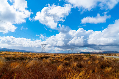 Desert Road North Island land and cloud scapes