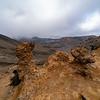 Natural rock sculptureRocky alpine landscape on Tongariro Alpine Crossing, New Zealand