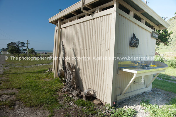 Outhouse. New Zealand images.