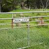 Gate. Wairarapa back country farmland. New Zealand images.