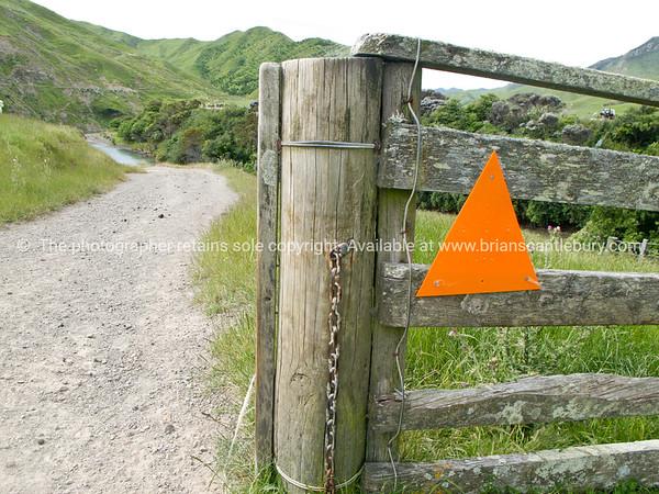 Wairarapa back-country, Tora Walk traverses several farms to the coast. New Zealand Images.