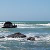Shipwreck on Tora Beach. New Zealand image.