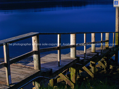 Port Waikato jetty at night.