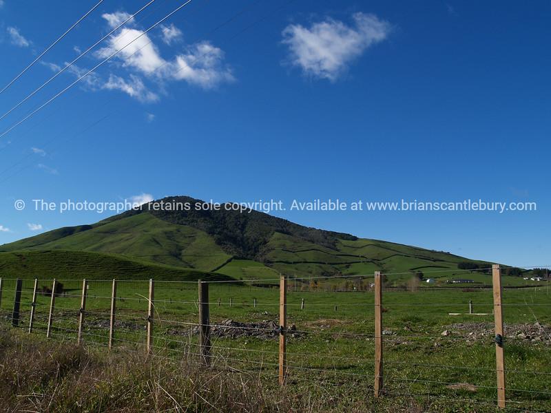 Rolling farmland.