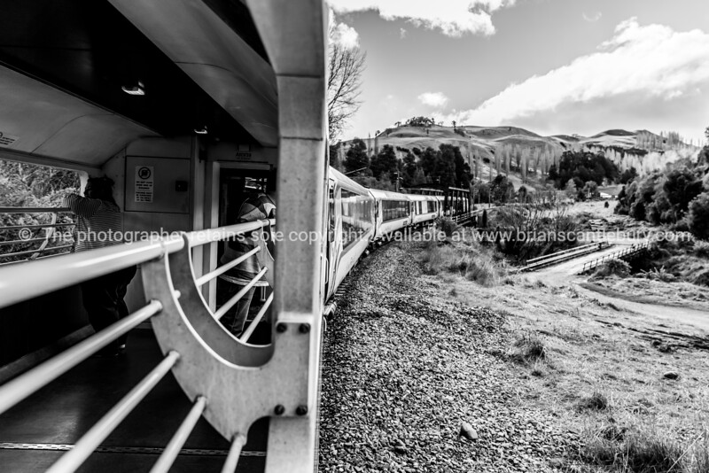 Looking back from viewing carriage of Northern Explorer travelling through Raurimu Spiral