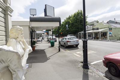 Greytown Main Street shops and display
