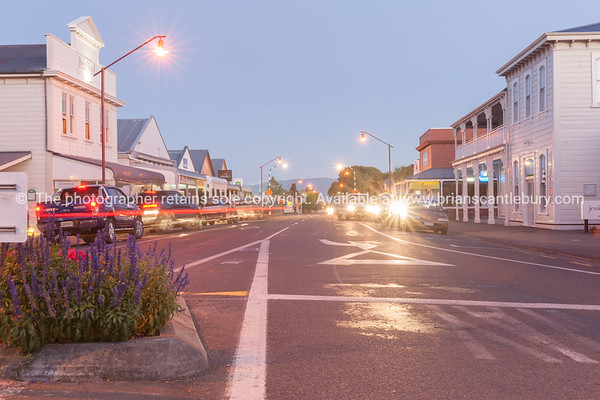 Martinborough looking along Kitchener street.