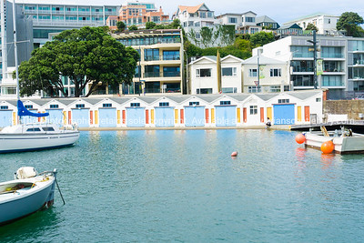 Oriental Bay Boat sheds Wellington New Zealand