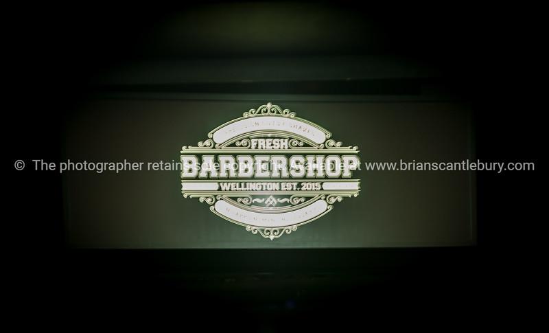 Fresh Barbershop sign Wellington