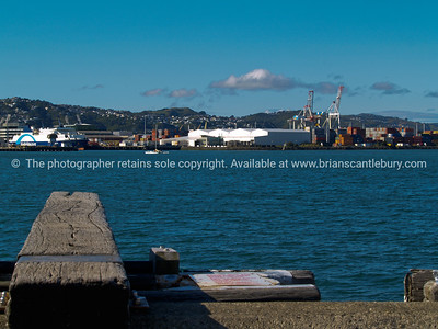 Across Wellington harbour to port facilities.