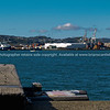 Across Wellington harbour to port facilities.