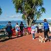 Tourists viewing Wellington