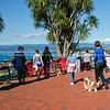Tourists viewing Wellington