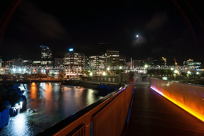 City lights across bay Wellington New Zealand