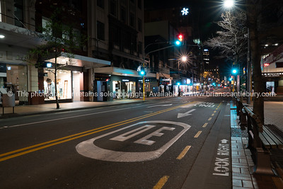 Night time in the city, Wellington