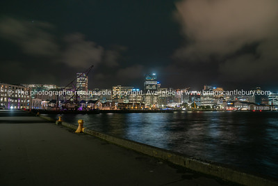 Night time in the city, Wellington, New Zealand.