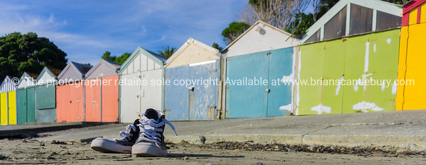 Titahi Bay boatsheds Wellington, New Zealand