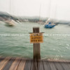 Slippery when wet sign in zoom blur effect