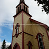 St Joseph's historic Catholic church, Jerusalem, New Zealand. New Zealand photographic stock images.