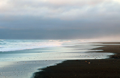 Hokitika Beach at sunset, West Coast, South Island