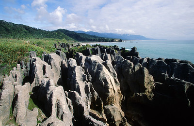 Punakaiki (pancake) Rocks, Paparoa National Park, West Coast, South Island