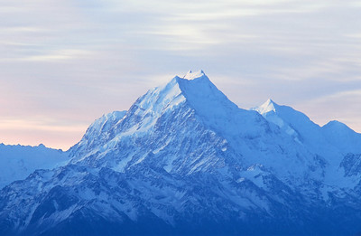 Mount Cook, highest peak in New Zealand, South Island