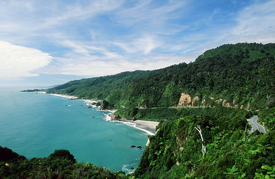 Iraiahuwhero Point lookout, West Coast, South Island