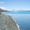 Stony shore Lake Pukaki, South Island NZ