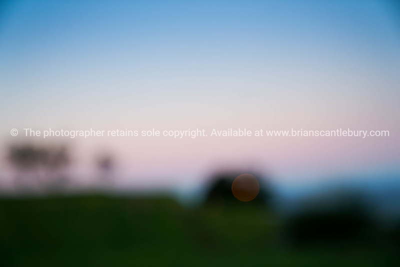Sunrise effects on Mount eden.