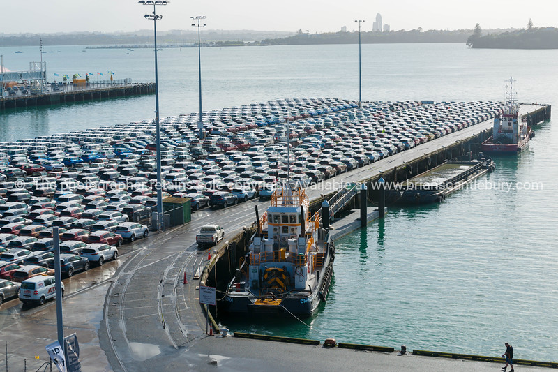 Rows and rows of newly imported second hane cars parked waiting for inspection and delivery