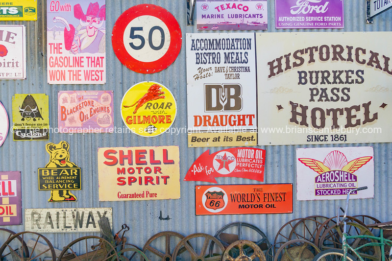 Collection of heritage signs and buildings