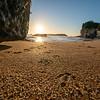 Sunrise at Cathedral Cove  on Coromandel Peninsula New Zealand