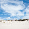 Cirrus cloud formation above sand dunes. New Zealand Images.